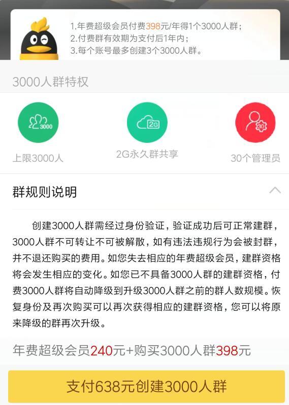 QQ上线3000人群 只需398
