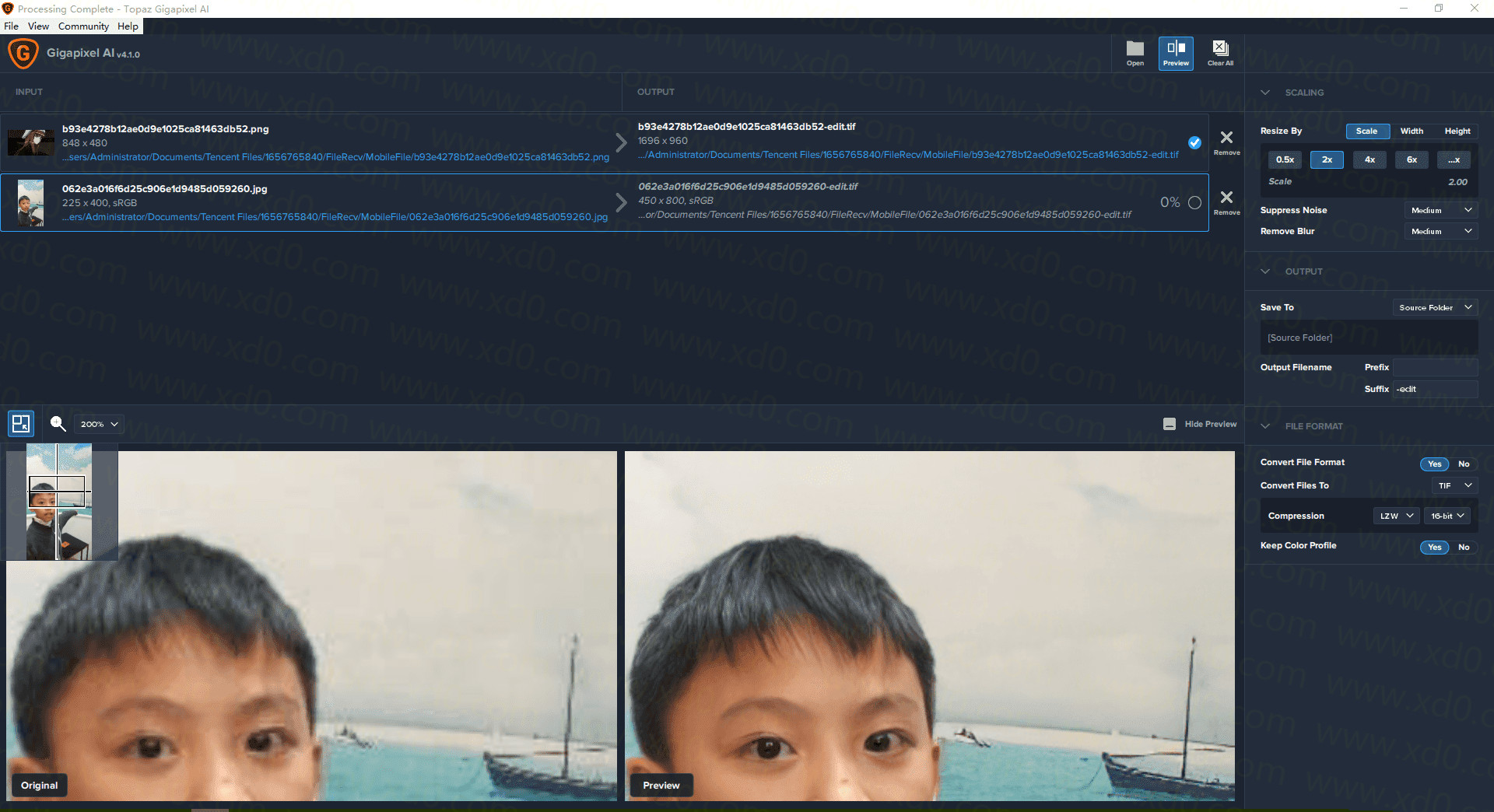 PC一键AI图片无损放大器