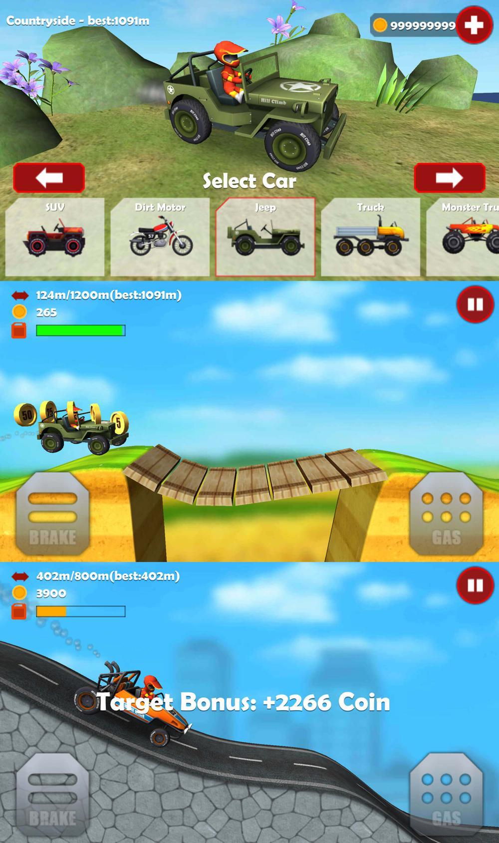 越野赛车游戏 山地越野车3D