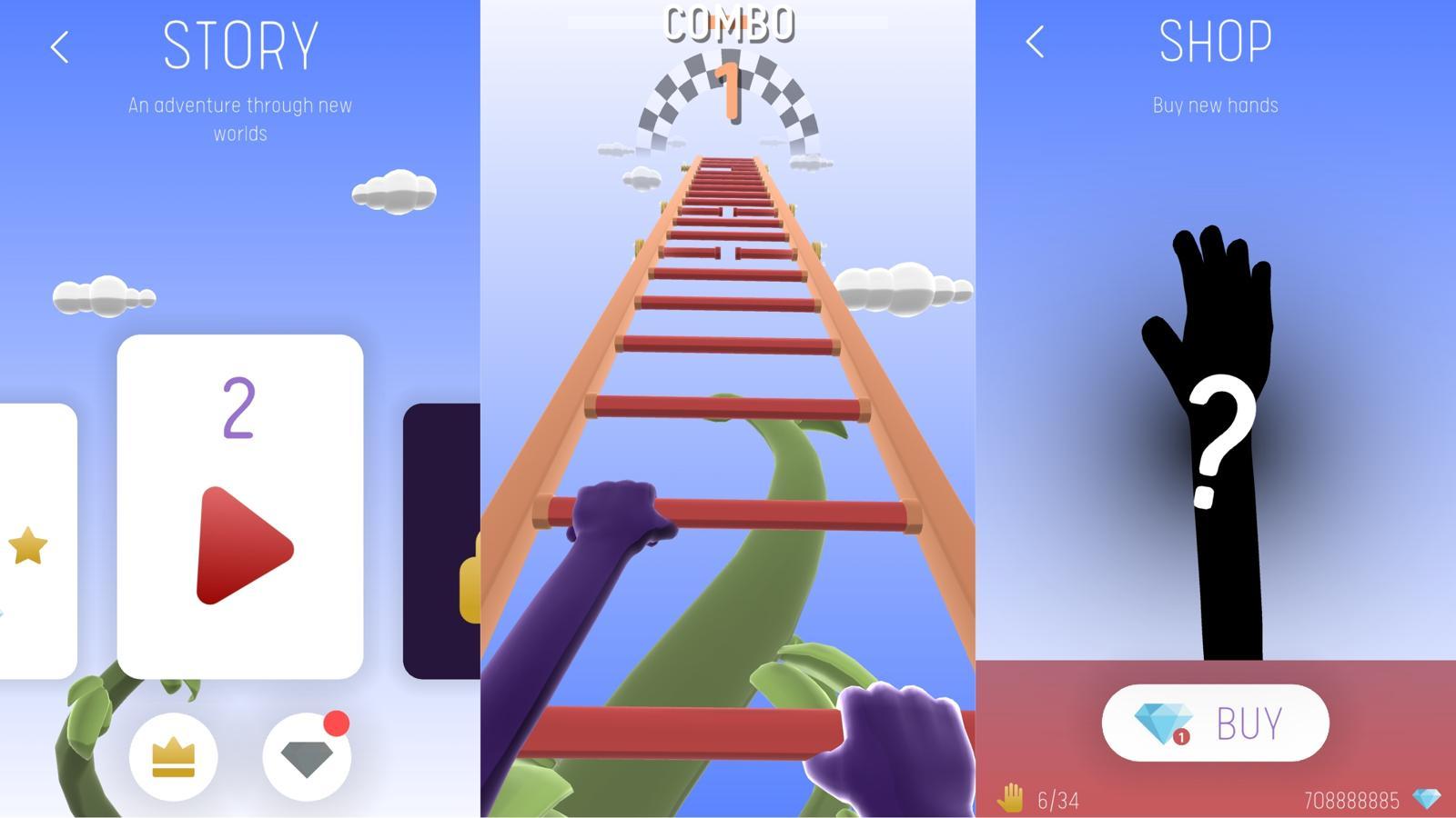动作闯关游戏 爬上梯子