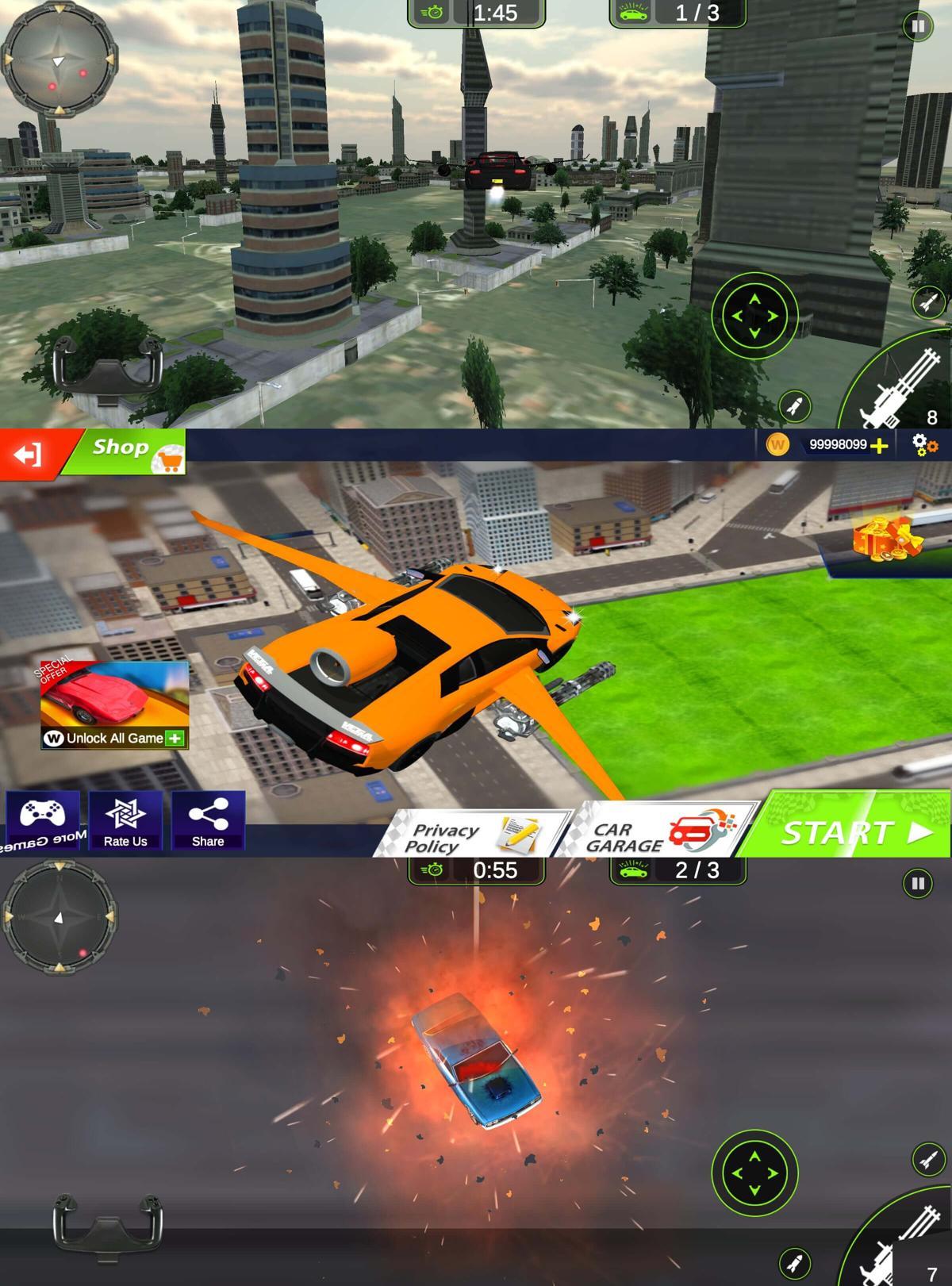 飞车射击游戏 极速飞车